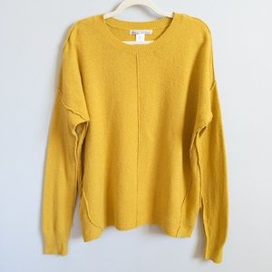 KAISELY Long Sleeve Yellow Crewneck Sweater | L